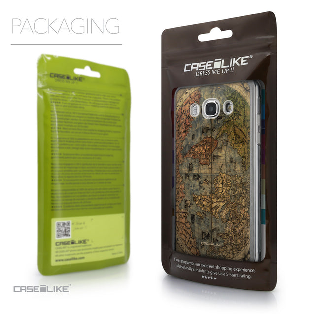 Packaging - CASEiLIKE Samsung Galaxy J5 (2016) back cover World Map Vintage 4608