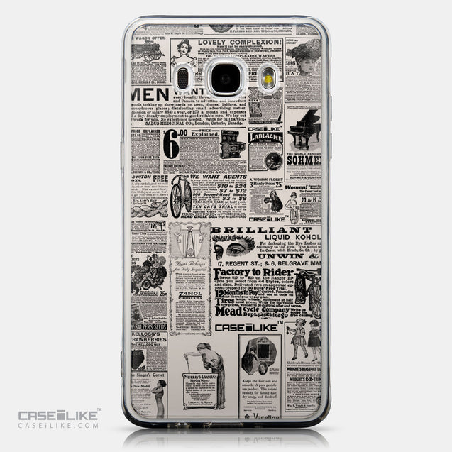 CASEiLIKE Samsung Galaxy J5 (2016) back cover Vintage Newspaper Advertising 4818