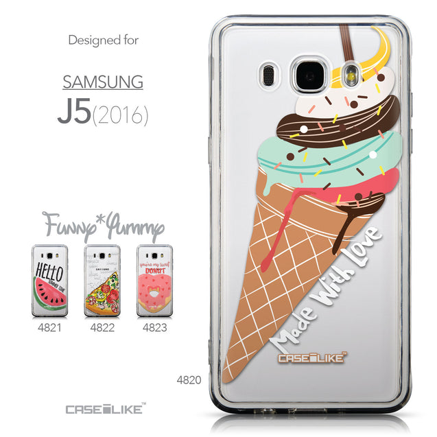 Collection - CASEiLIKE Samsung Galaxy J5 (2016) back cover Ice Cream 4820