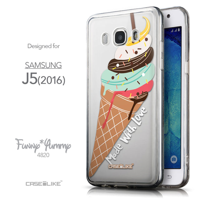 Front & Side View - CASEiLIKE Samsung Galaxy J5 (2016) back cover Ice Cream 4820