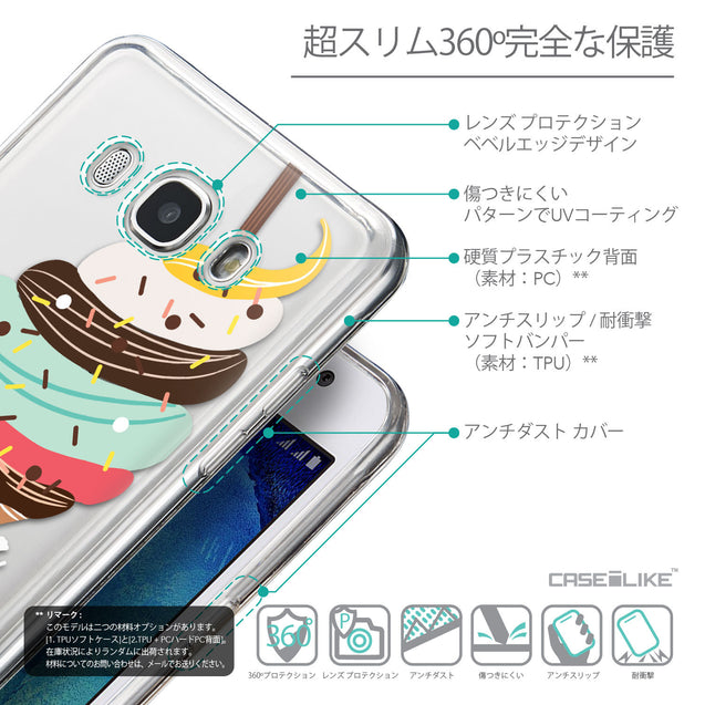 Details in Japanese - CASEiLIKE Samsung Galaxy J5 (2016) back cover Ice Cream 4820