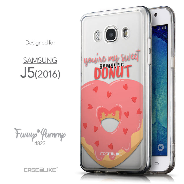 Front & Side View - CASEiLIKE Samsung Galaxy J5 (2016) back cover Dounuts 4823