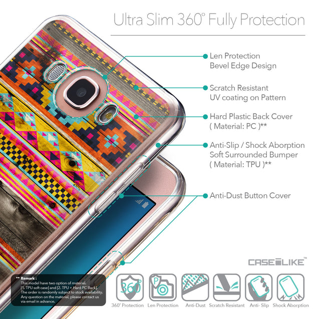 Details in English - CASEiLIKE Samsung Galaxy J7 (2016) back cover Indian Tribal Theme Pattern 2048