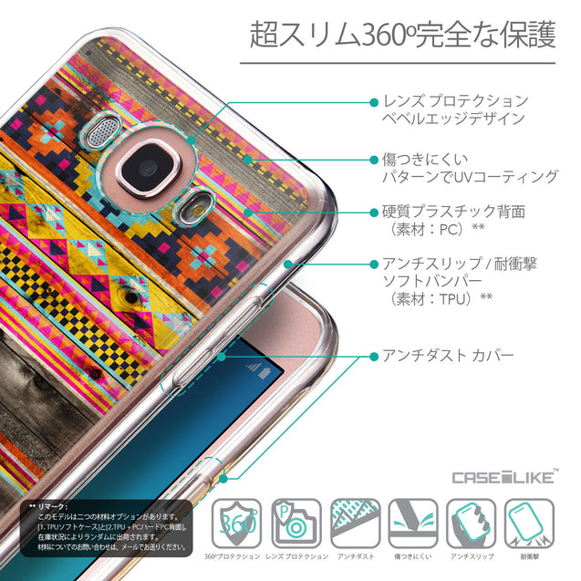 Details in Japanese - CASEiLIKE Samsung Galaxy J7 (2016) back cover Indian Tribal Theme Pattern 2048