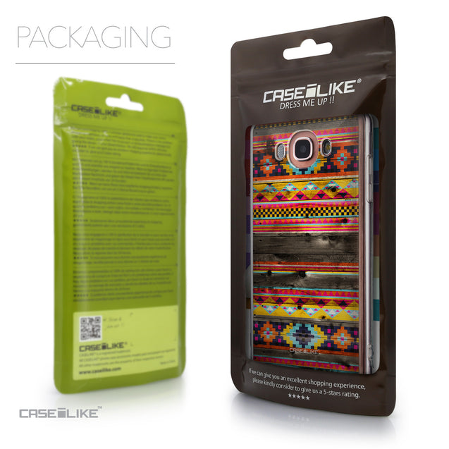 Packaging - CASEiLIKE Samsung Galaxy J7 (2016) back cover Indian Tribal Theme Pattern 2048