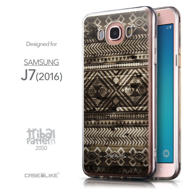Front & Side View - CASEiLIKE Samsung Galaxy J7 (2016) back cover Indian Tribal Theme Pattern 2050