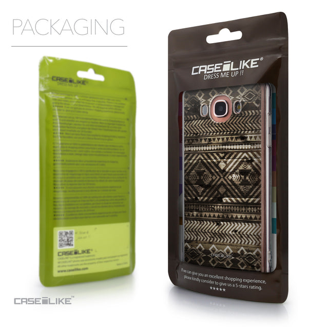 Packaging - CASEiLIKE Samsung Galaxy J7 (2016) back cover Indian Tribal Theme Pattern 2050