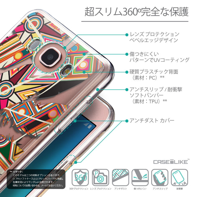 Details in Japanese - CASEiLIKE Samsung Galaxy J7 (2016) back cover Indian Tribal Theme Pattern 2054