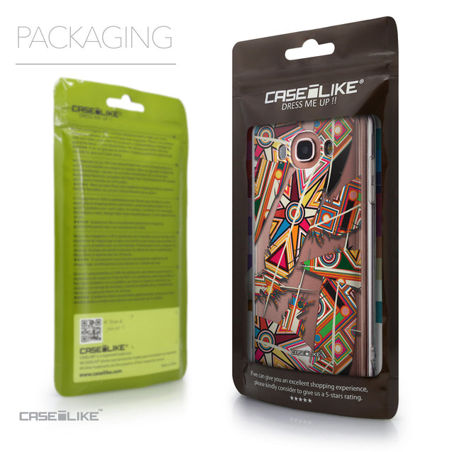 Packaging - CASEiLIKE Samsung Galaxy J7 (2016) back cover Indian Tribal Theme Pattern 2054