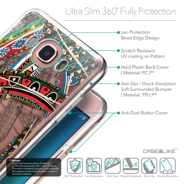 Details in English - CASEiLIKE Samsung Galaxy J7 (2016) back cover Indian Tribal Theme Pattern 2055