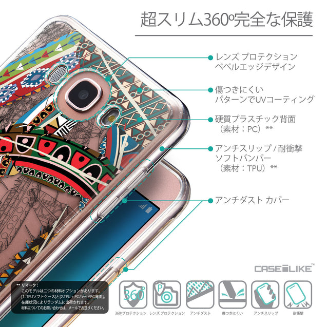 Details in Japanese - CASEiLIKE Samsung Galaxy J7 (2016) back cover Indian Tribal Theme Pattern 2055