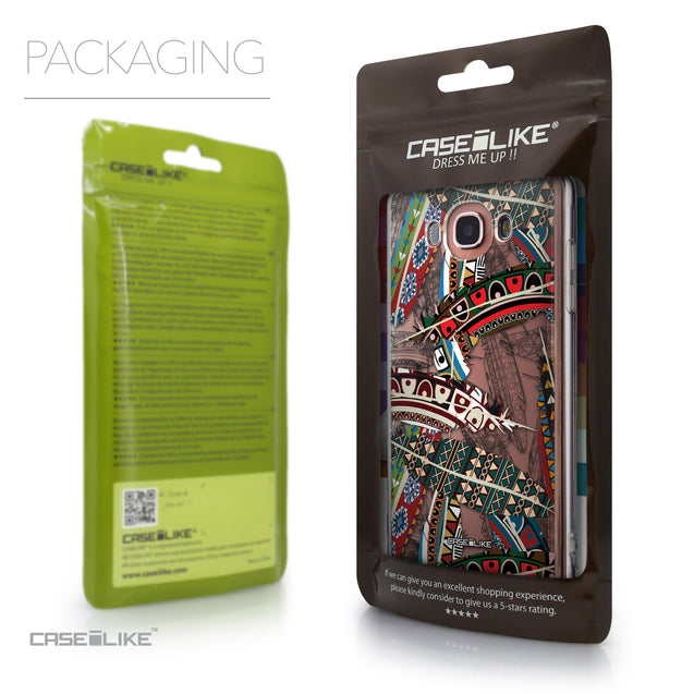 Packaging - CASEiLIKE Samsung Galaxy J7 (2016) back cover Indian Tribal Theme Pattern 2055
