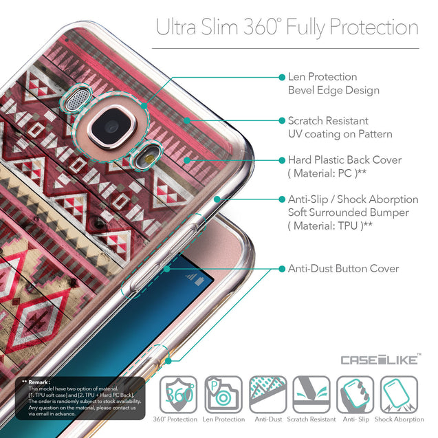 Details in English - CASEiLIKE Samsung Galaxy J7 (2016) back cover Indian Tribal Theme Pattern 2057