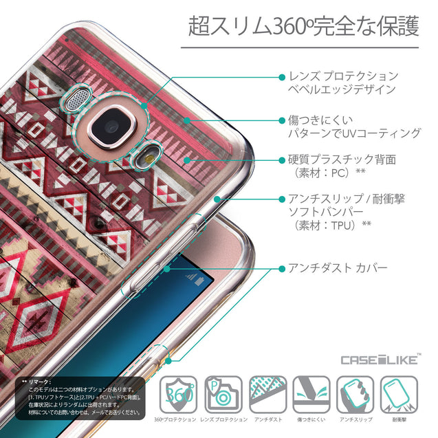 Details in Japanese - CASEiLIKE Samsung Galaxy J7 (2016) back cover Indian Tribal Theme Pattern 2057