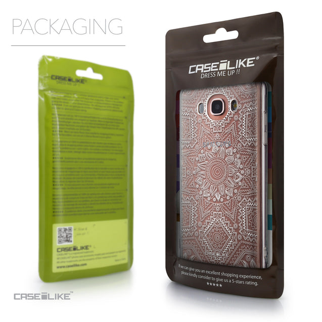 Packaging - CASEiLIKE Samsung Galaxy J7 (2016) back cover Indian Line Art 2061