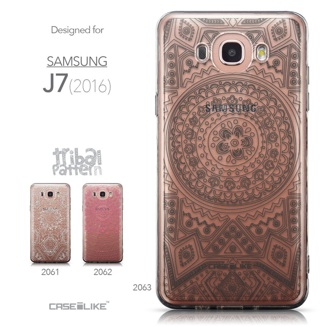 Collection - CASEiLIKE Samsung Galaxy J7 (2016) back cover Indian Line Art 2063