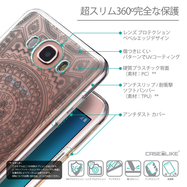 Details in Japanese - CASEiLIKE Samsung Galaxy J7 (2016) back cover Indian Line Art 2063