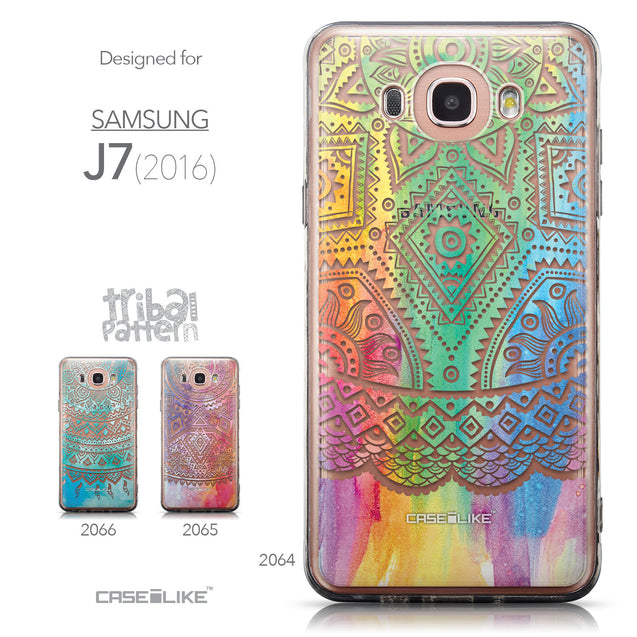 Collection - CASEiLIKE Samsung Galaxy J7 (2016) back cover Indian Line Art 2064