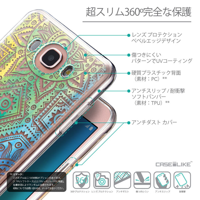 Details in Japanese - CASEiLIKE Samsung Galaxy J7 (2016) back cover Indian Line Art 2064