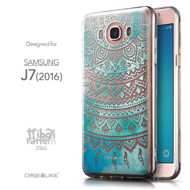 Front & Side View - CASEiLIKE Samsung Galaxy J7 (2016) back cover Indian Line Art 2066