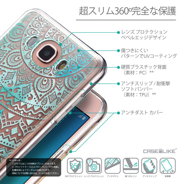 Details in Japanese - CASEiLIKE Samsung Galaxy J7 (2016) back cover Indian Line Art 2066