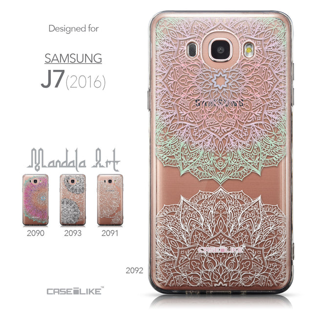 Collection - CASEiLIKE Samsung Galaxy J7 (2016) back cover Mandala Art 2092