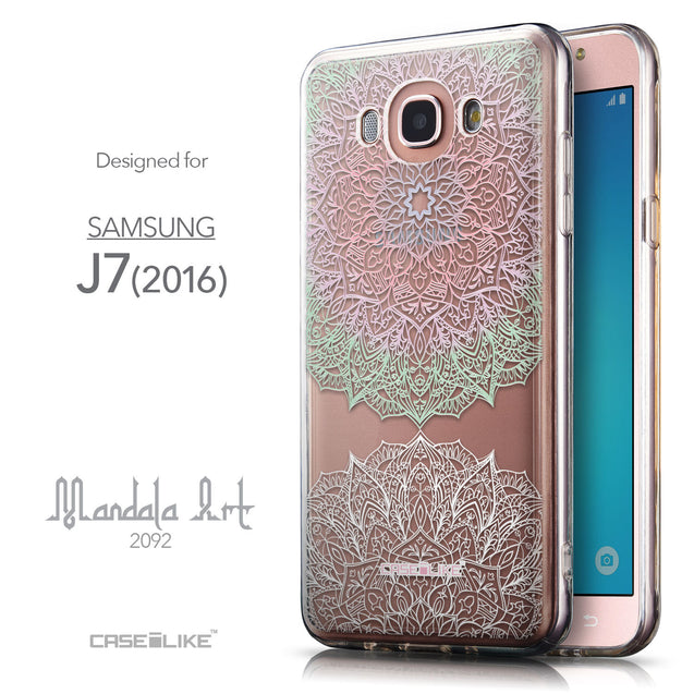 Front & Side View - CASEiLIKE Samsung Galaxy J7 (2016) back cover Mandala Art 2092