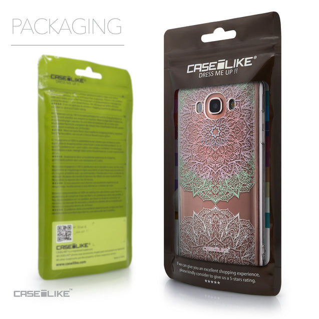 Packaging - CASEiLIKE Samsung Galaxy J7 (2016) back cover Mandala Art 2092