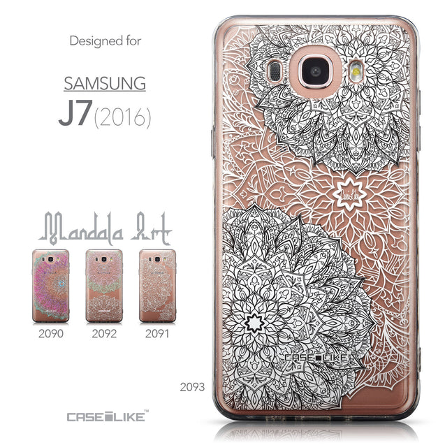 Collection - CASEiLIKE Samsung Galaxy J7 (2016) back cover Mandala Art 2093