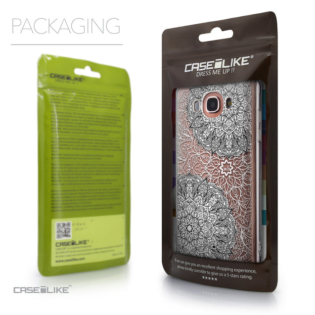 Packaging - CASEiLIKE Samsung Galaxy J7 (2016) back cover Mandala Art 2093