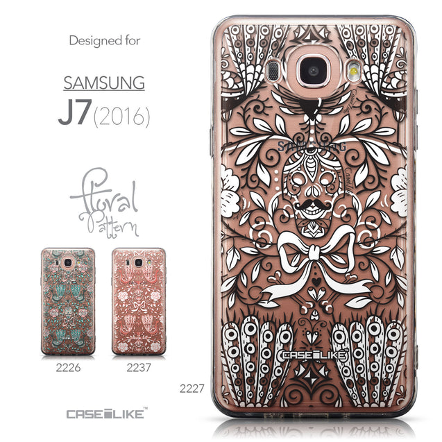 Collection - CASEiLIKE Samsung Galaxy J7 (2016) back cover Roses Ornamental Skulls Peacocks 2227
