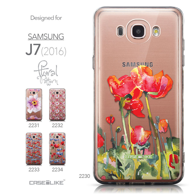 Collection - CASEiLIKE Samsung Galaxy J7 (2016) back cover Watercolor Floral 2230