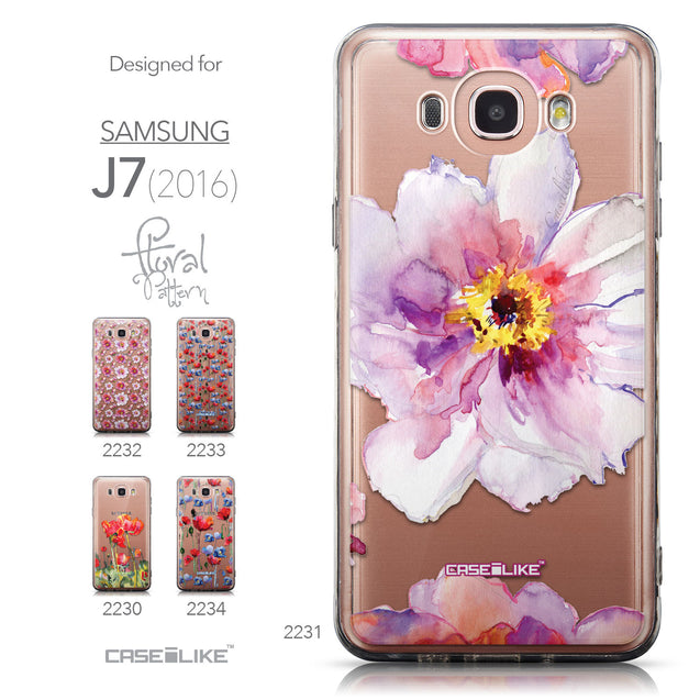 Collection - CASEiLIKE Samsung Galaxy J7 (2016) back cover Watercolor Floral 2231