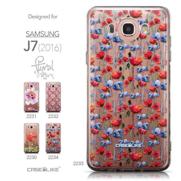 Collection - CASEiLIKE Samsung Galaxy J7 (2016) back cover Watercolor Floral 2233