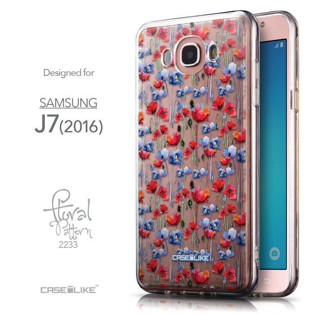 Front & Side View - CASEiLIKE Samsung Galaxy J7 (2016) back cover Watercolor Floral 2233