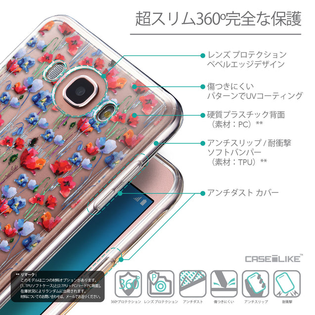 Details in Japanese - CASEiLIKE Samsung Galaxy J7 (2016) back cover Watercolor Floral 2233
