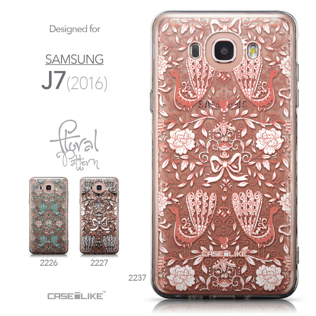 Collection - CASEiLIKE Samsung Galaxy J7 (2016) back cover Roses Ornamental Skulls Peacocks 2237