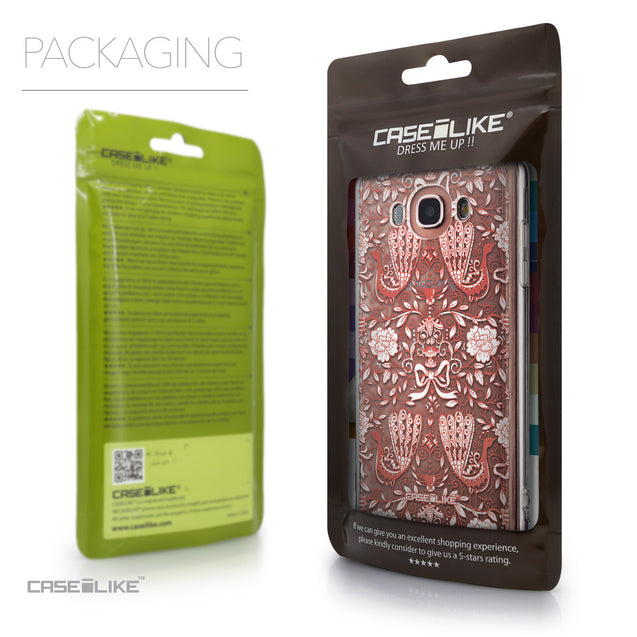 Packaging - CASEiLIKE Samsung Galaxy J7 (2016) back cover Roses Ornamental Skulls Peacocks 2237