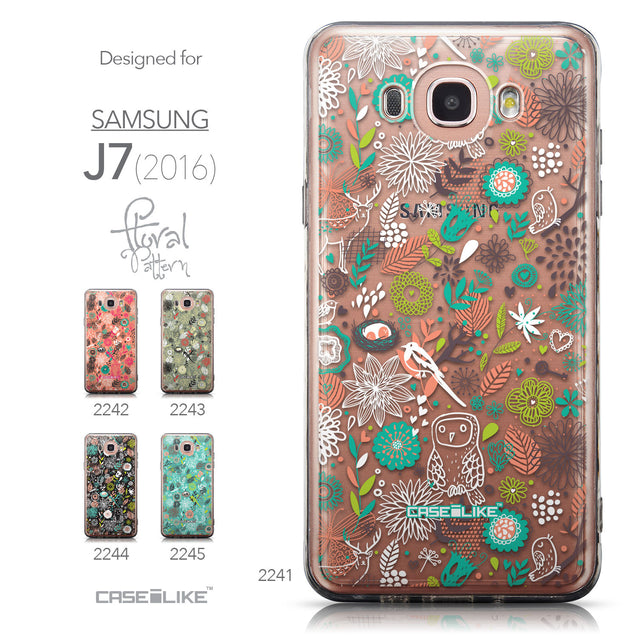 Collection - CASEiLIKE Samsung Galaxy J7 (2016) back cover Spring Forest White 2241