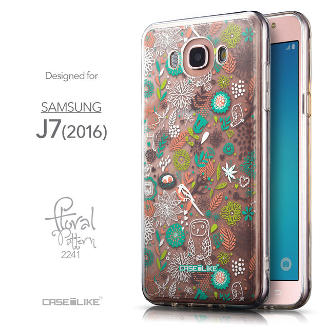 Front & Side View - CASEiLIKE Samsung Galaxy J7 (2016) back cover Spring Forest White 2241