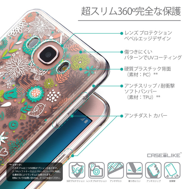 Details in Japanese - CASEiLIKE Samsung Galaxy J7 (2016) back cover Spring Forest White 2241