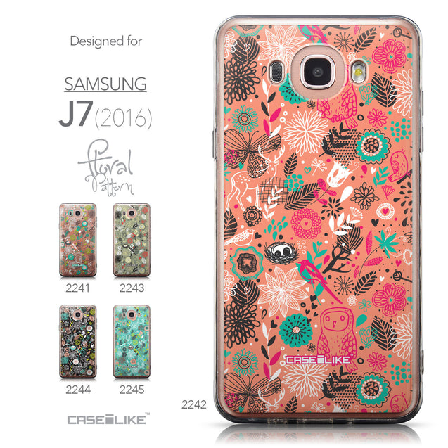 Collection - CASEiLIKE Samsung Galaxy J7 (2016) back cover Spring Forest Pink 2242