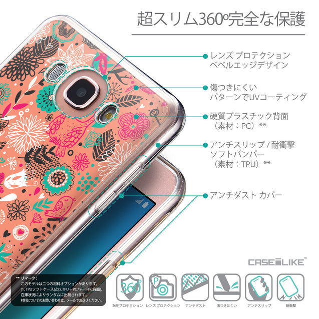 Details in Japanese - CASEiLIKE Samsung Galaxy J7 (2016) back cover Spring Forest Pink 2242