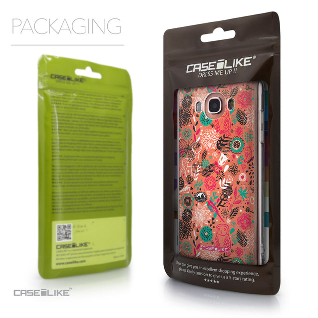 Packaging - CASEiLIKE Samsung Galaxy J7 (2016) back cover Spring Forest Pink 2242