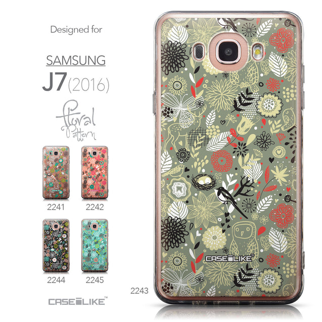 Collection - CASEiLIKE Samsung Galaxy J7 (2016) back cover Spring Forest Gray 2243