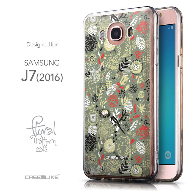 Front & Side View - CASEiLIKE Samsung Galaxy J7 (2016) back cover Spring Forest Gray 2243