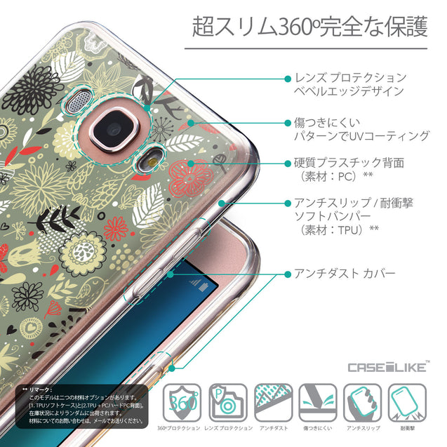 Details in Japanese - CASEiLIKE Samsung Galaxy J7 (2016) back cover Spring Forest Gray 2243