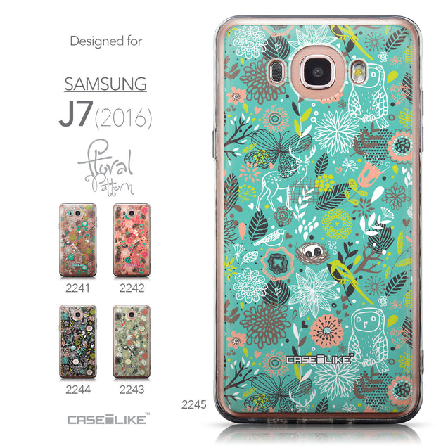 Collection - CASEiLIKE Samsung Galaxy J7 (2016) back cover Spring Forest Turquoise 2245