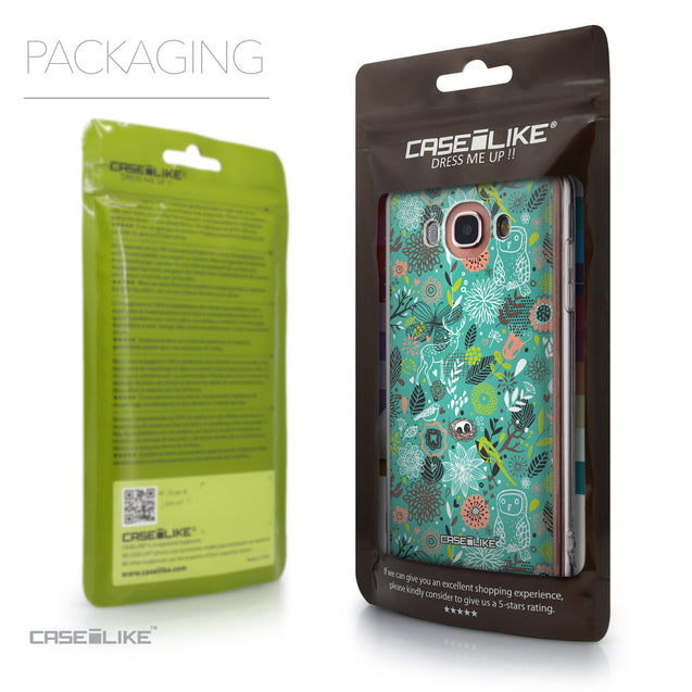Packaging - CASEiLIKE Samsung Galaxy J7 (2016) back cover Spring Forest Turquoise 2245