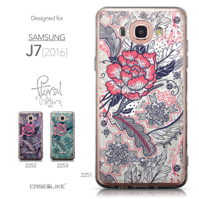 Collection - CASEiLIKE Samsung Galaxy J7 (2016) back cover Vintage Roses and Feathers Beige 2251
